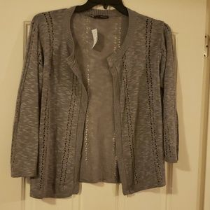 Gray Lightweight Cardigan Sweater